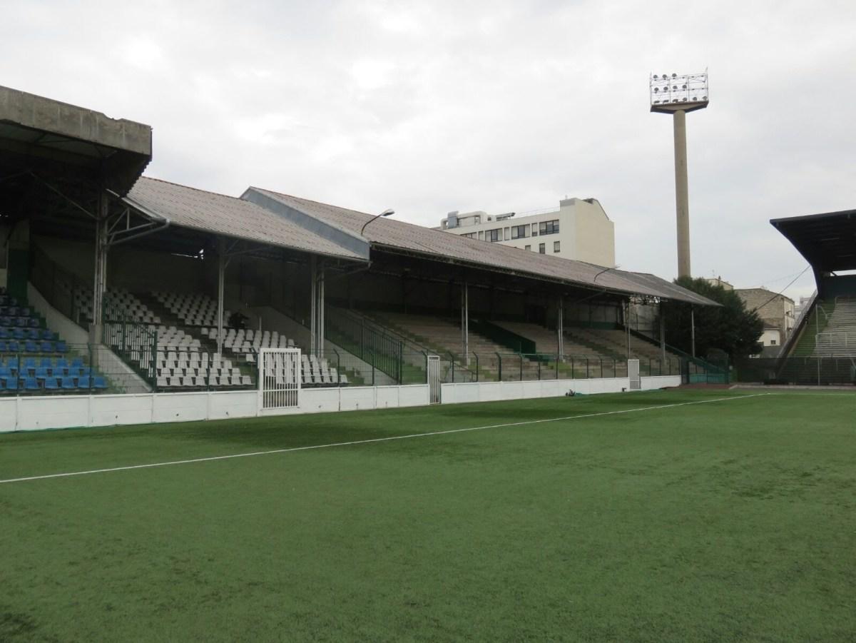 The Stade de Paris is now neglected.