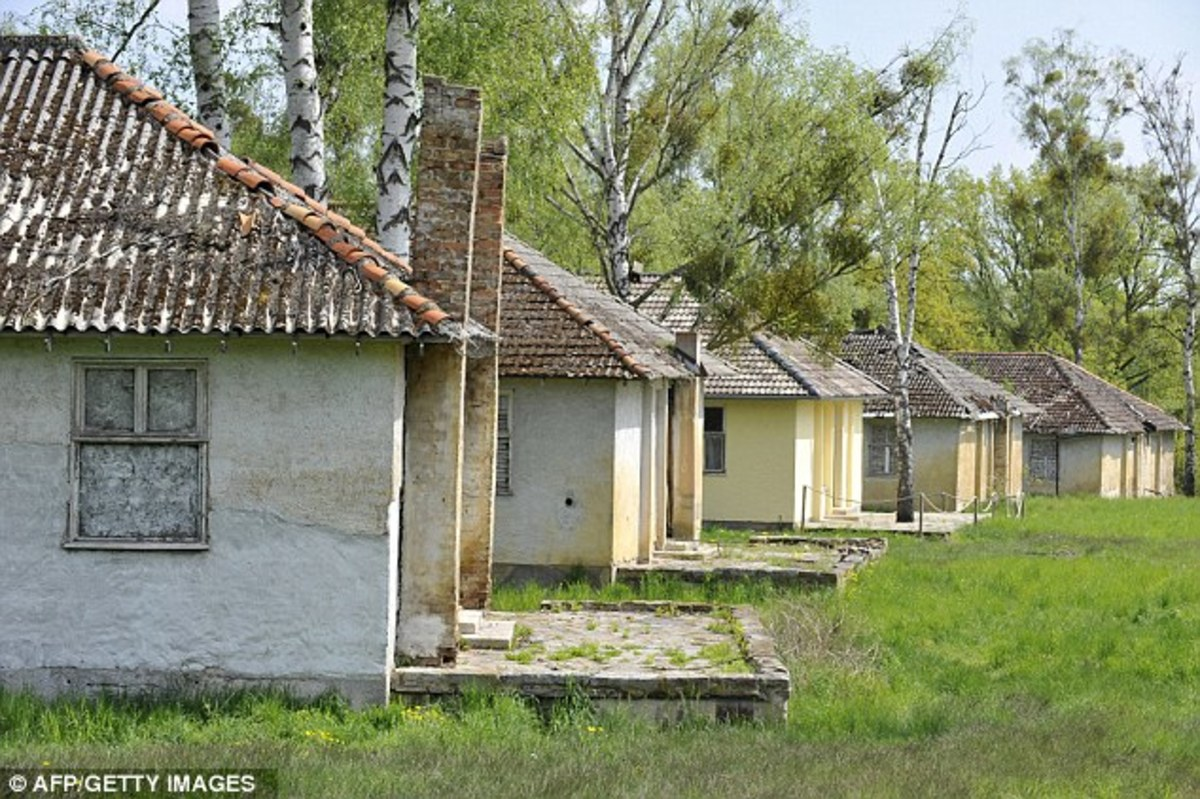 "These dormitories of ""Peaceful Village"" ironically became Nazi military barracks during the war. They have not been used since."
