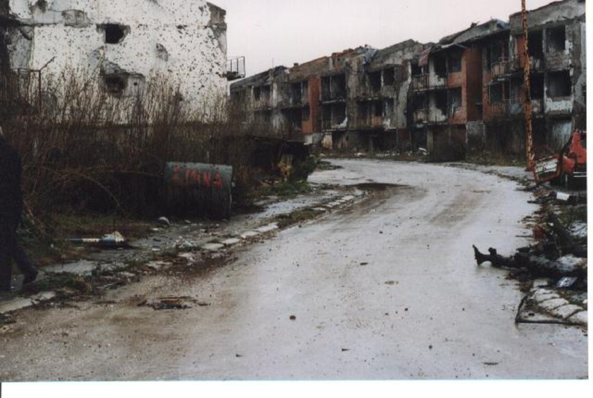 Sarajevo Olympic Village now looks like a ghost town.