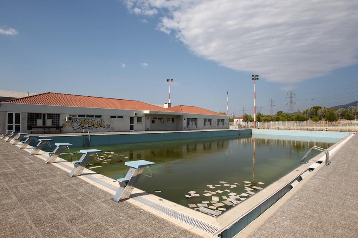 Abandoned training pool