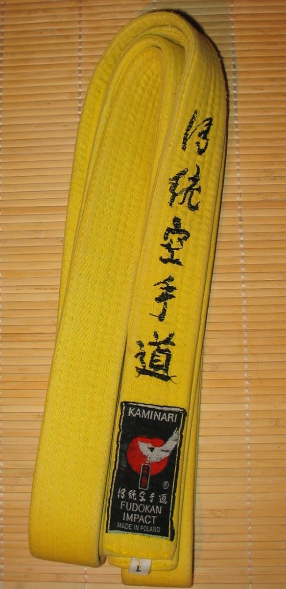 The second rank: the yellow belt.