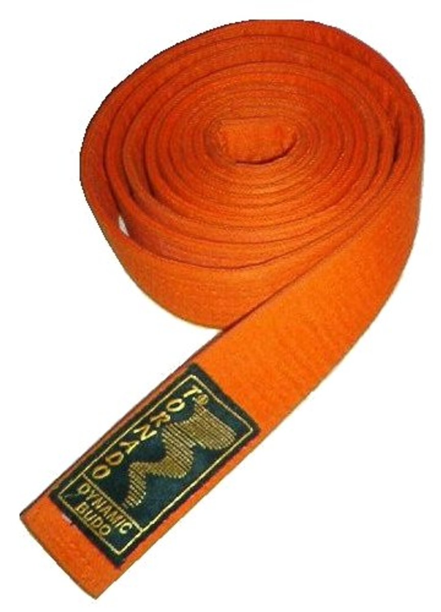 The third rank: the orange belt.