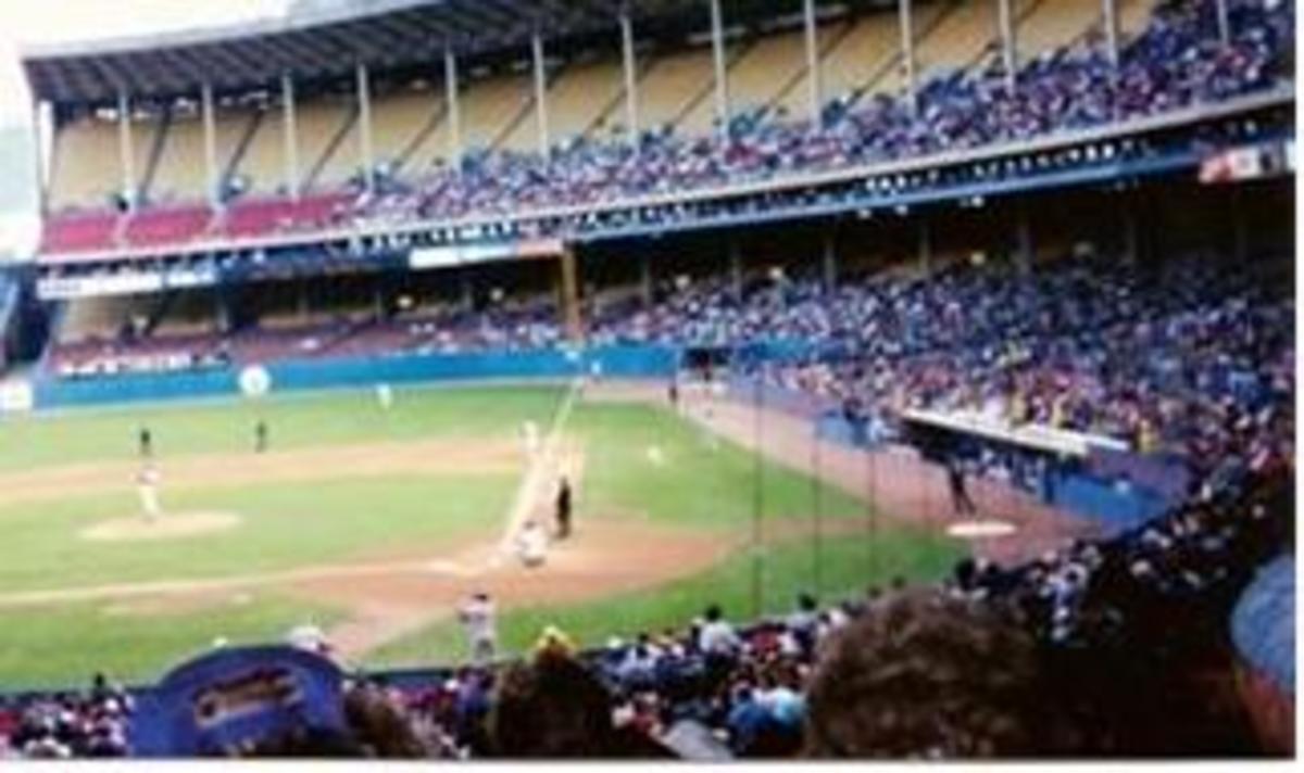 Inside Cleveland Municipal Stadium