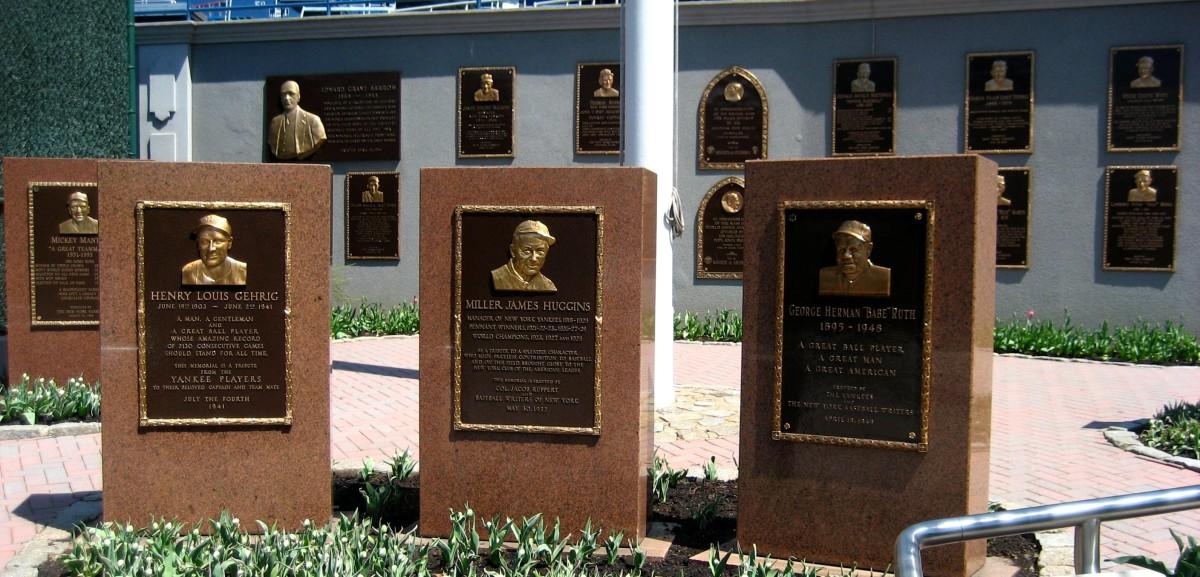 Monuments at Yankee Stadium