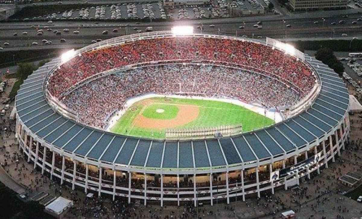 Fulton County Stadium in Atlanta, Georgia