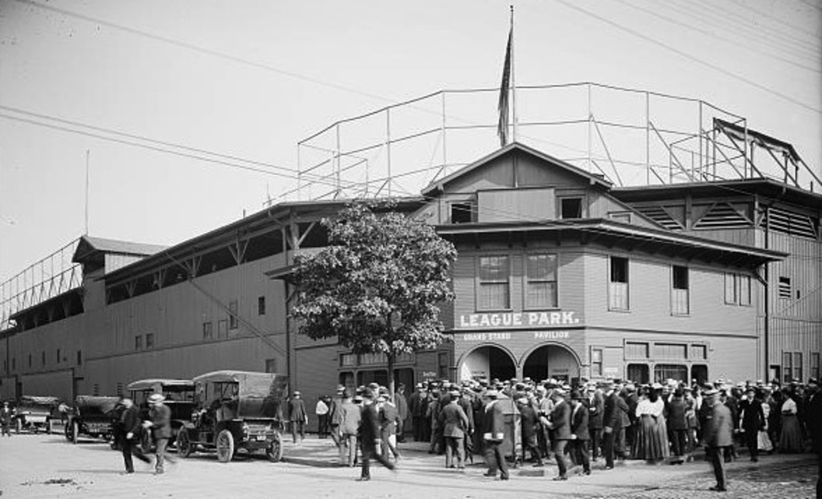 League Park; early home of the Cleveland Indians