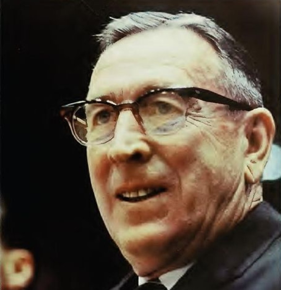 Coach John Wooden (photo circa 1972) guided UCLA from 1948–1975, including 10 national championships, an 88-game winning streak, and two other winning streaks of 40+ games.