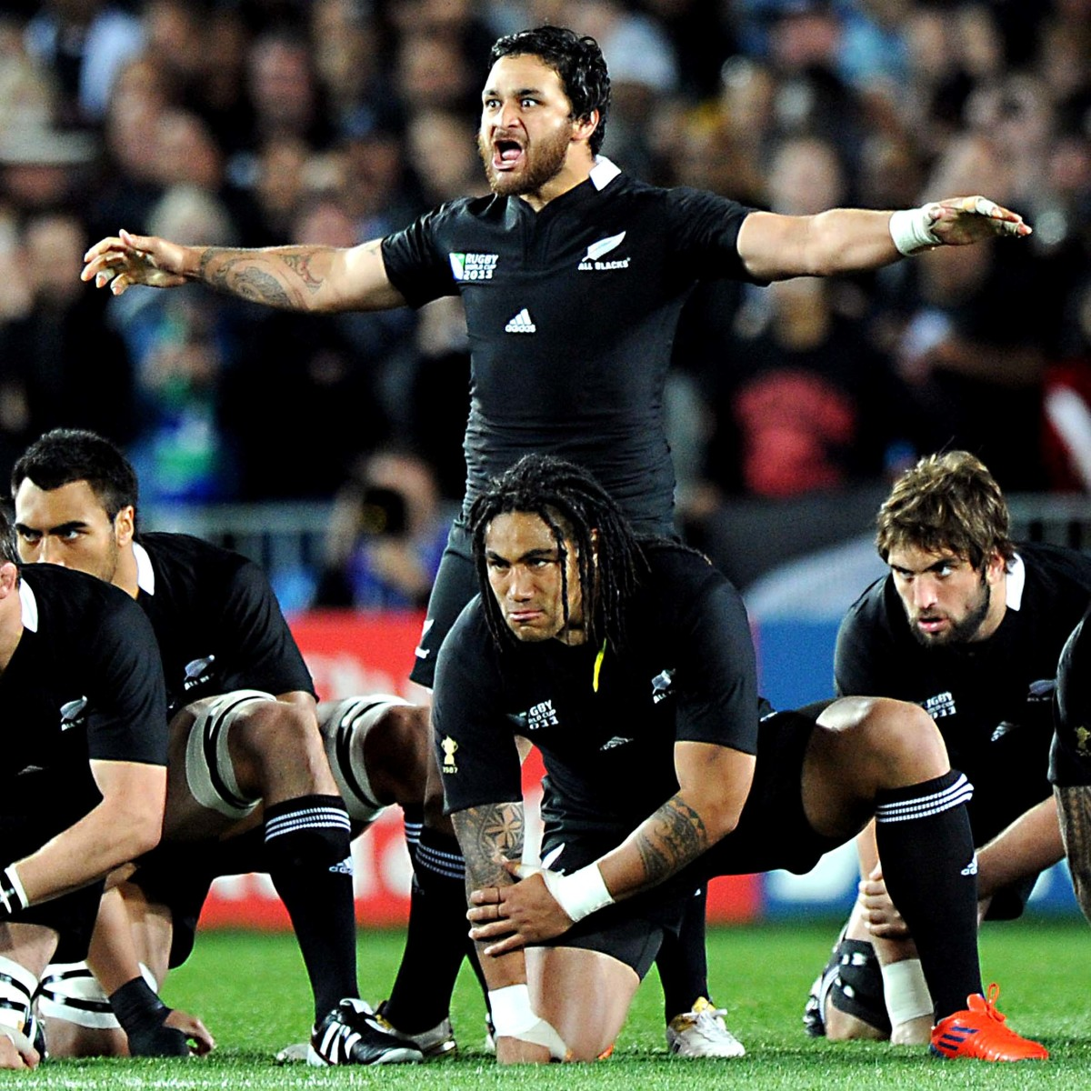 One player takes the lead in marshalling the performance of the haka