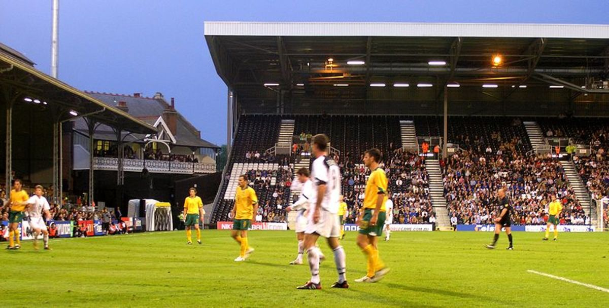 New Zealand in action against Australia at London's Craven Cottage. This match happened to be the only match New Zealand played in 2005.
