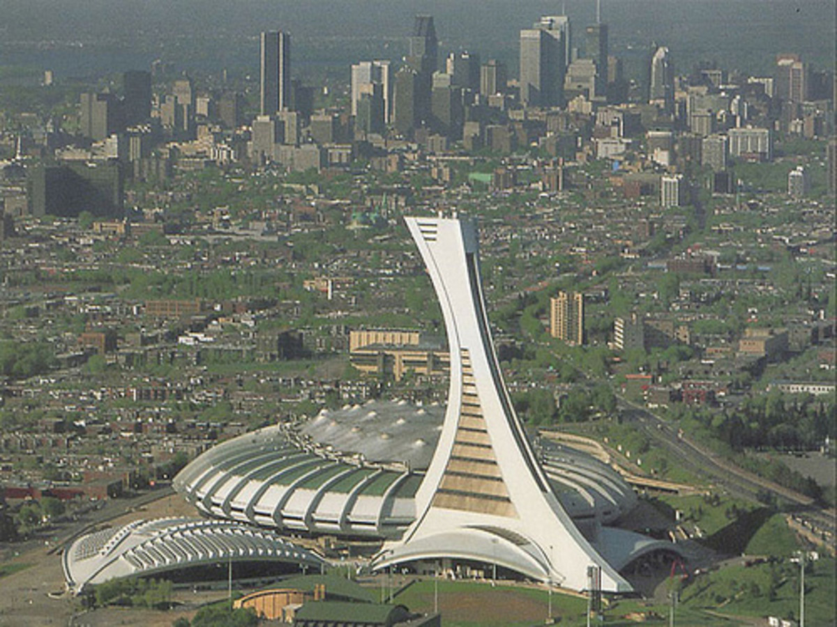 The underused Montreal Olympic Stadium known, without affection, as the Big Owe