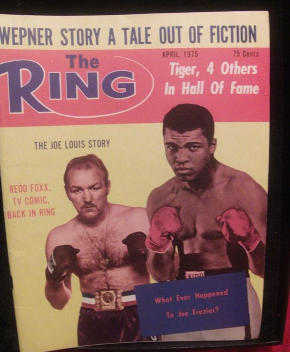 Magazine article about Wepner and Ali fight