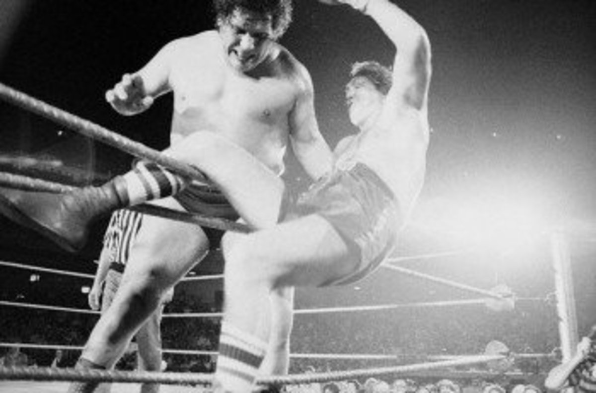 Andre the Giant throwing Chuck Wepner out of the ring