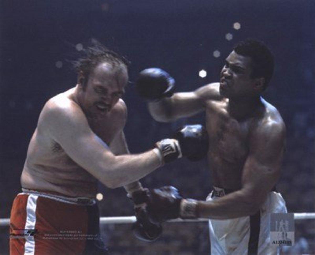 Ali hittig Wepner during fight