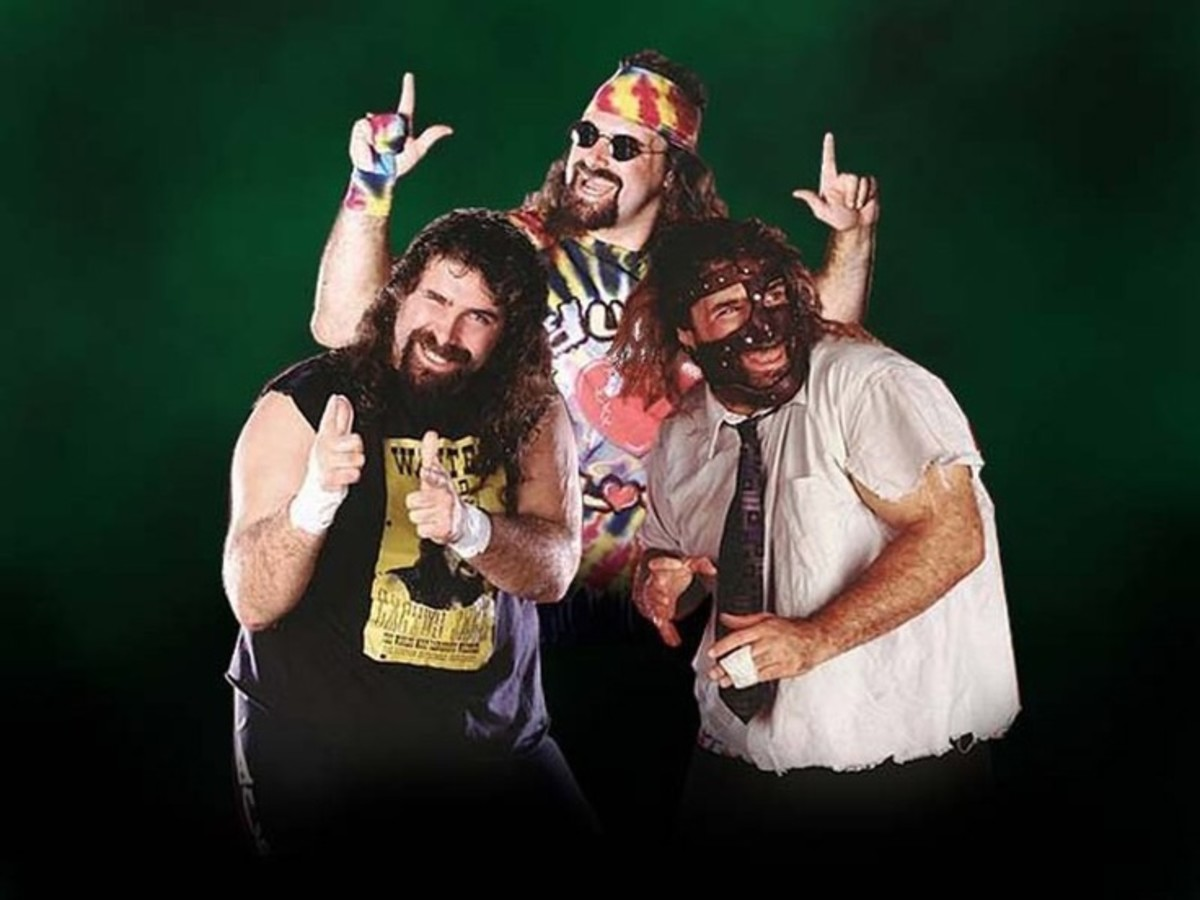 Mick Foley aka Cactus Jack aka Dude Love aka Mankind.