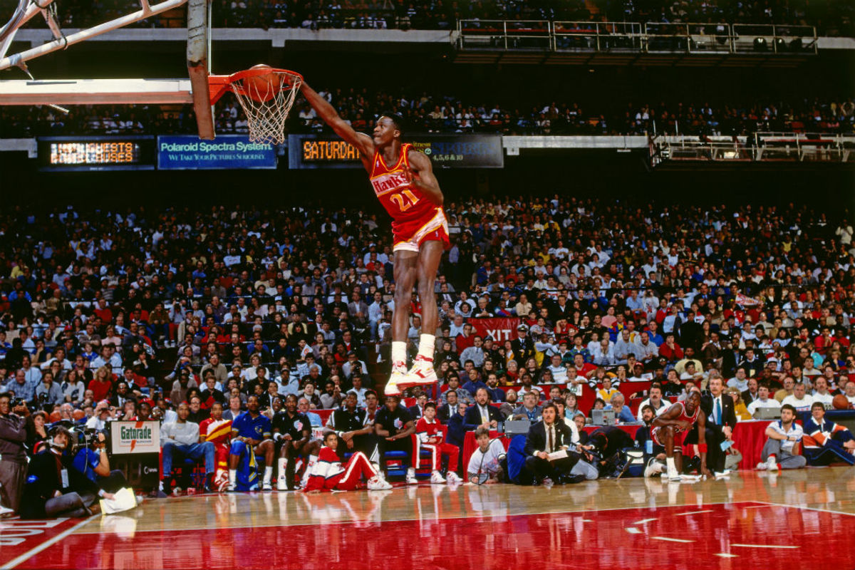 Dominique Wilkins entertained many fans with his high-flying antics through his nearly two-decade career.