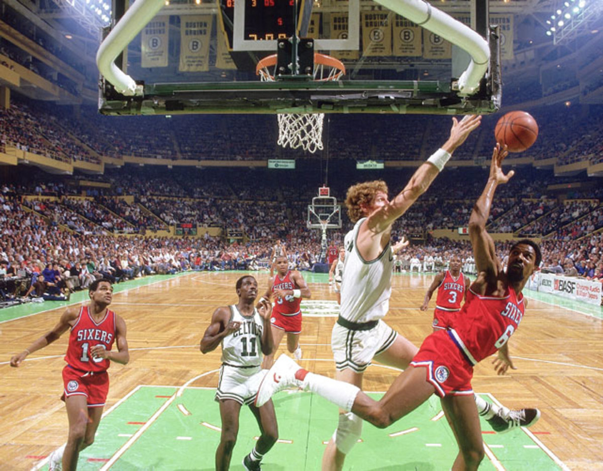 Bill Walton was one of the best rim protectors in his time. He feared no one. Not even Julius Erving.