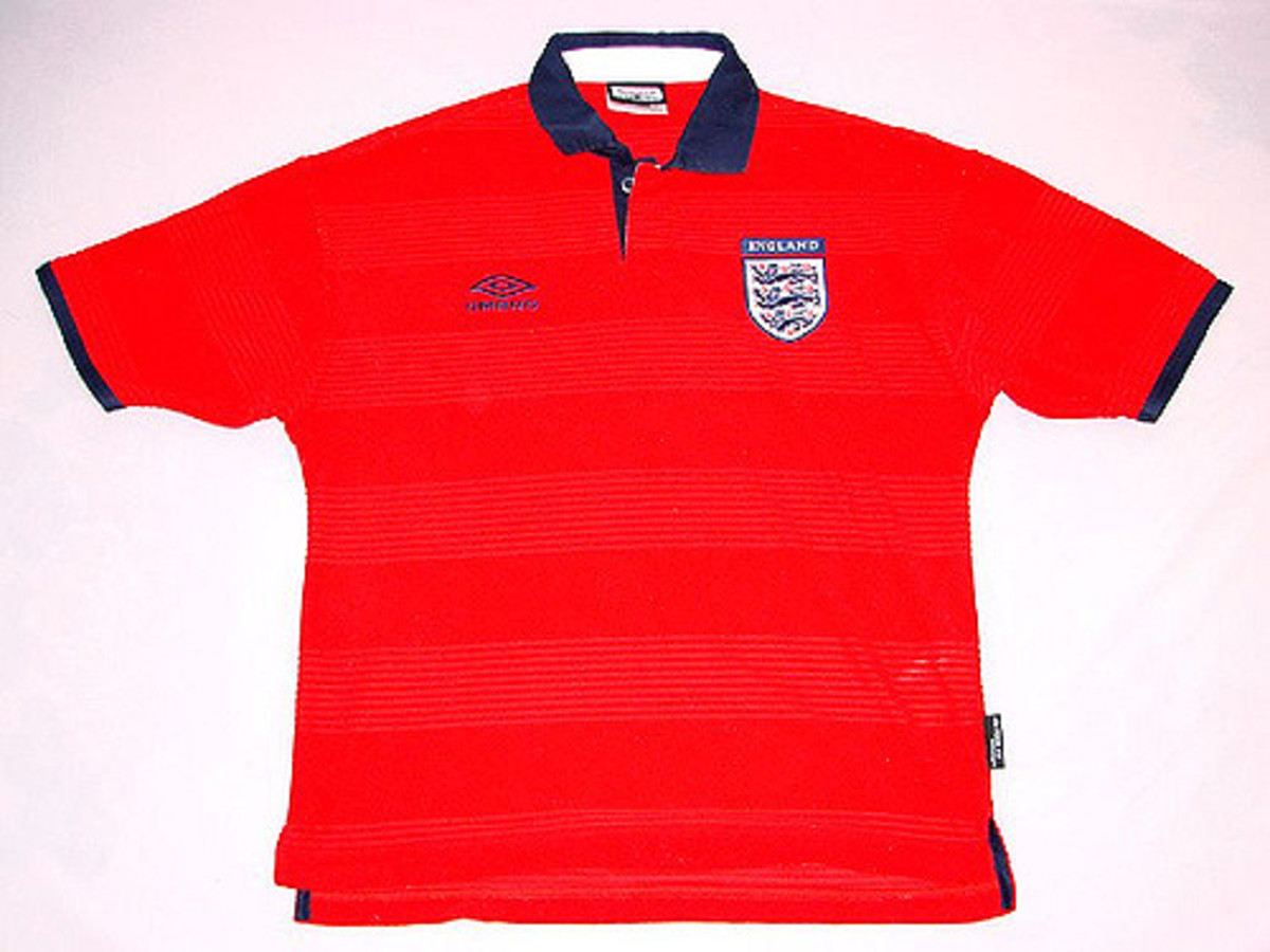 England Away Shirt 2002 World Cup