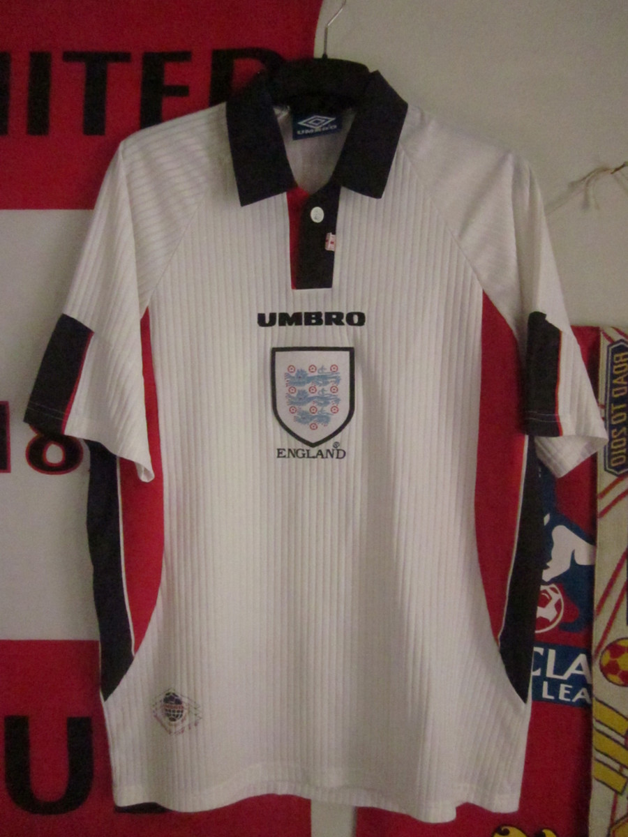 England home shirt for France '98