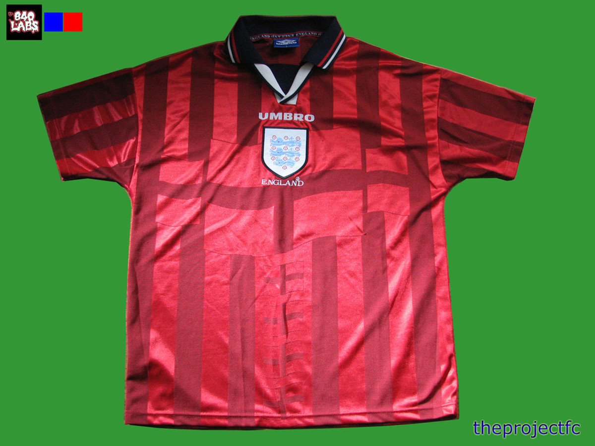 England 1998 world cup away shirt