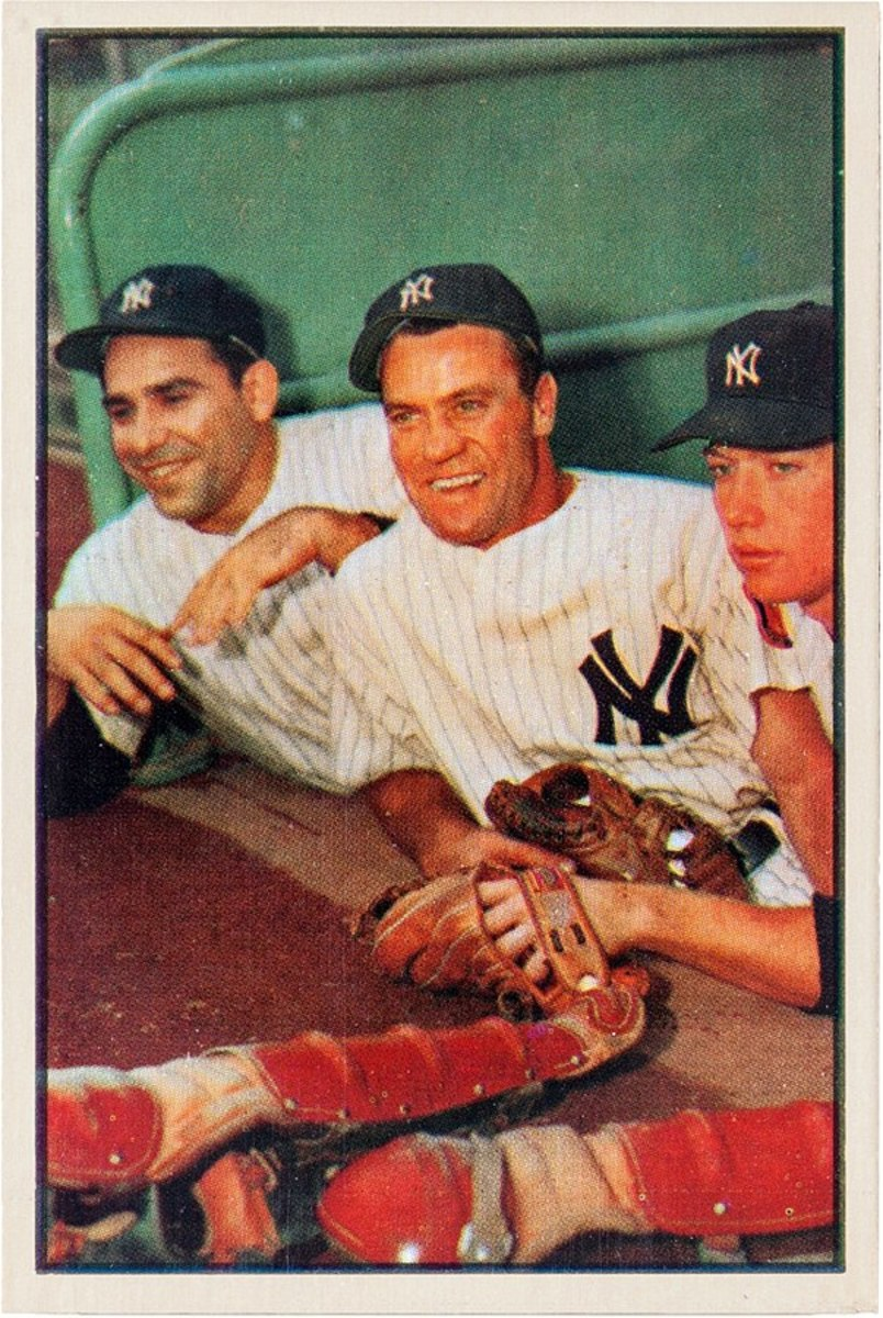 Yogi Berra, Hank Bauer and Mickey Mantle