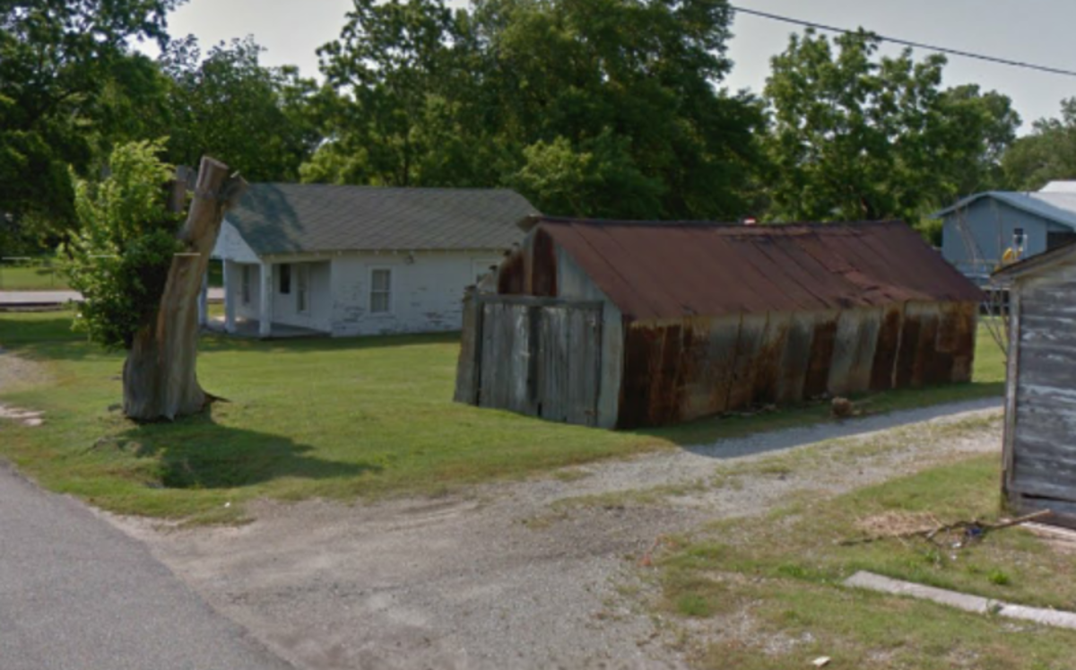 Mickey Mantle's Childhood Home and the Shed Outside of Which He Practiced