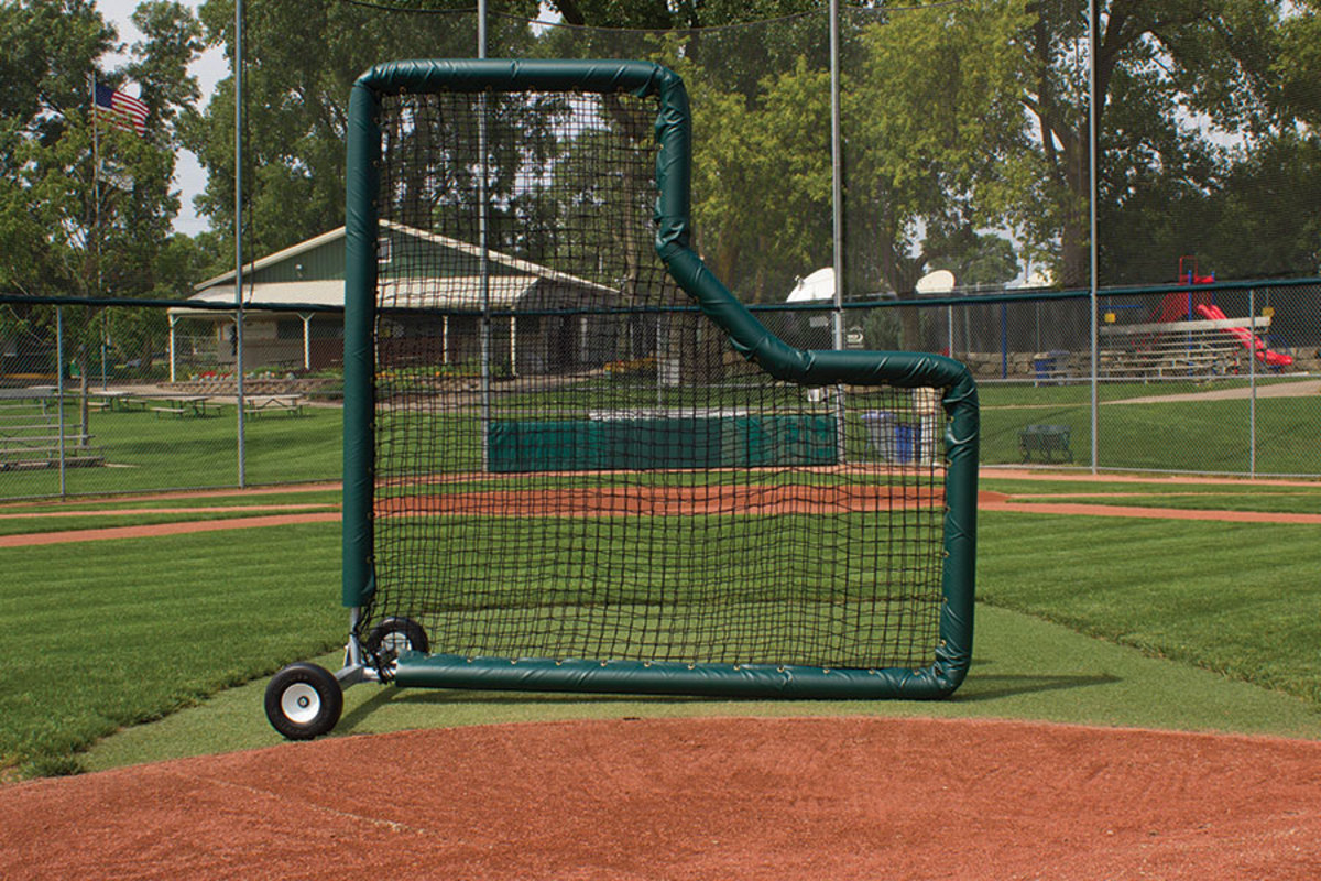 An example of a pitching screen.
