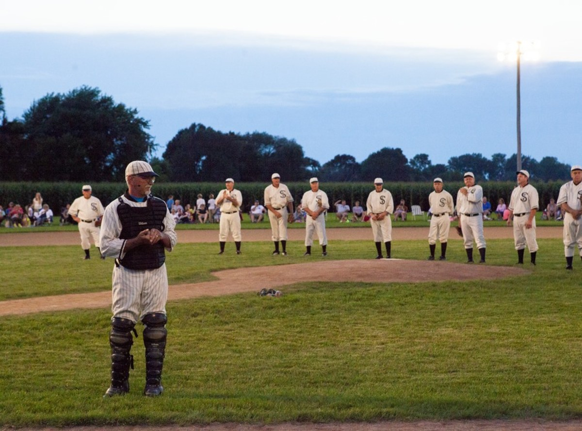 Playing baseball on the Field of Dreams
