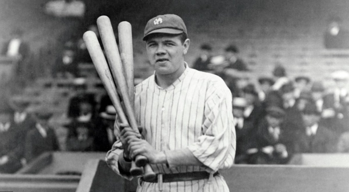 Babe Ruth was the American League home run leader for 12 seasons; 1918–1921, 1923, 1924, and 1926–1931.