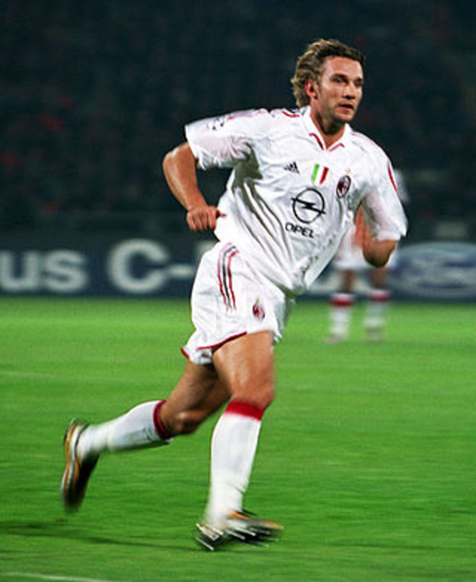 Andriy Shevchenko won the Champions League with AC Milan in 2003. A year later he won his and one and only Ballon d'Or.