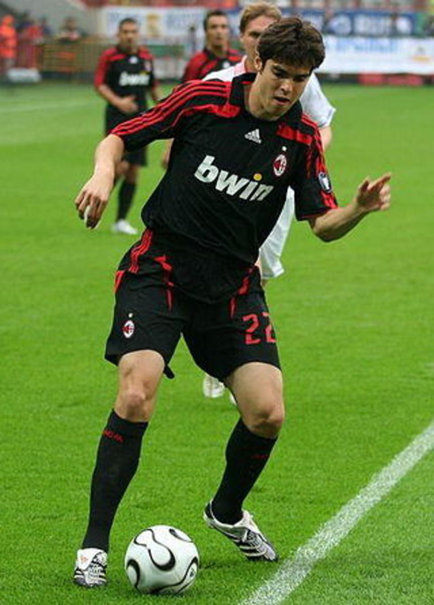 Kaka had 2 separate spells at AC Milan clocking up 223 appearances and scoring 30 goals.