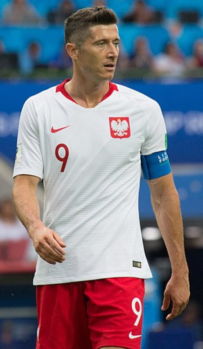 Robert Lewandowski is undoubtedly the greatest Polish footballer of all time. He has been capped 98 times and has scored 55 goals.