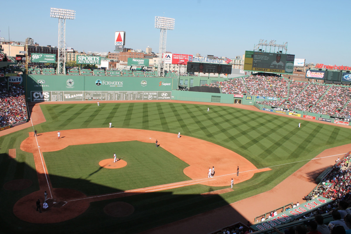 Fenway Park in Boston has some of the most unique features of any ballpark. That home run fence in left is only 310 feet from home, but it's 37 feet high!