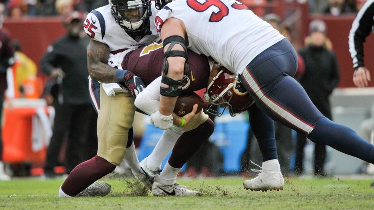 Alex Smith breaking his leg against the Texans.