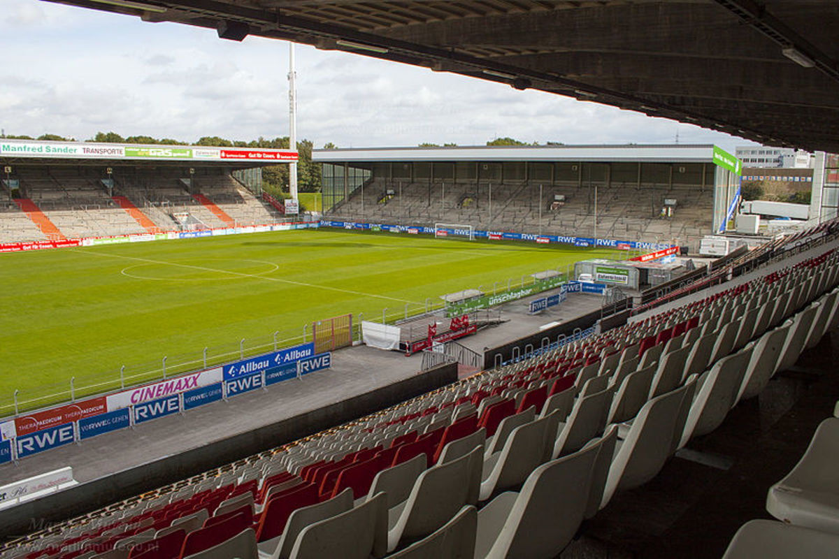 A photo of the Georg-Melches Stadion, home of Rot-Weiss Essen and the venue of Hibernian's first ever European Cup game.