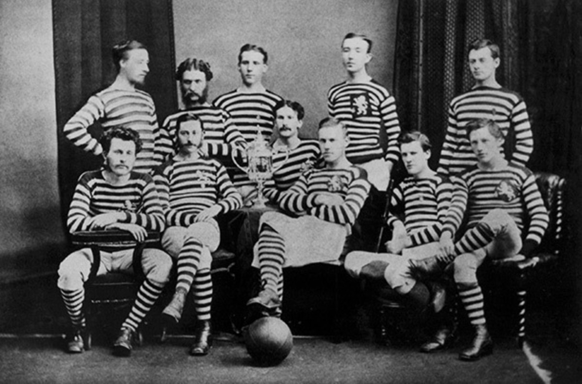 A photograph of the Queens Park team that won the first ever Scottish Cup in 1874.