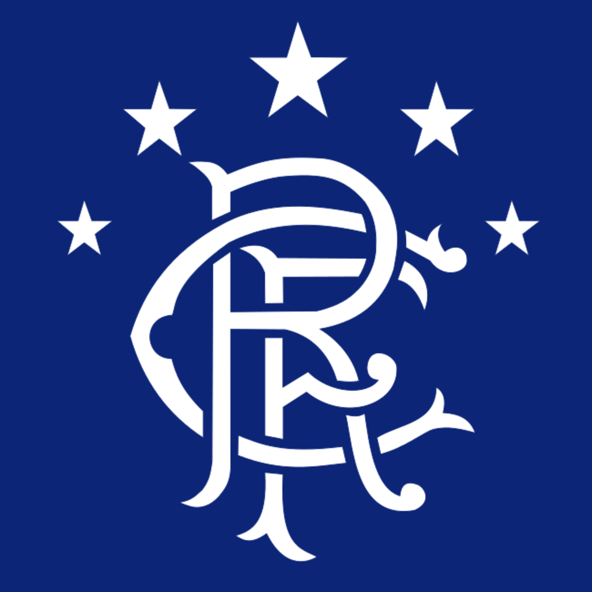 Since 2003 Rangers have won 5 stars alongside their club crest. Each stars symbolizes 10 of the titles they have won.