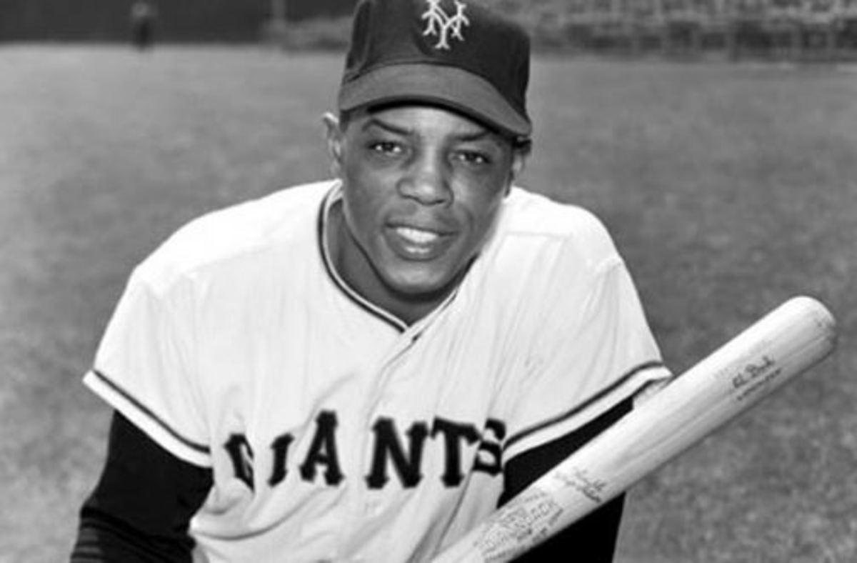 Willie Mays during his days with the New York Giants