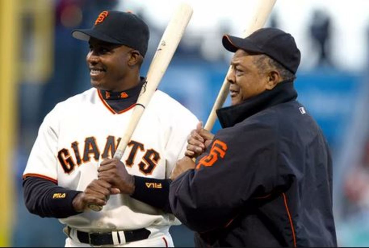 Willie Mays and Barry Bonds