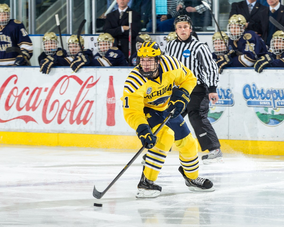 Zach Hyman playing at University of Michigan.