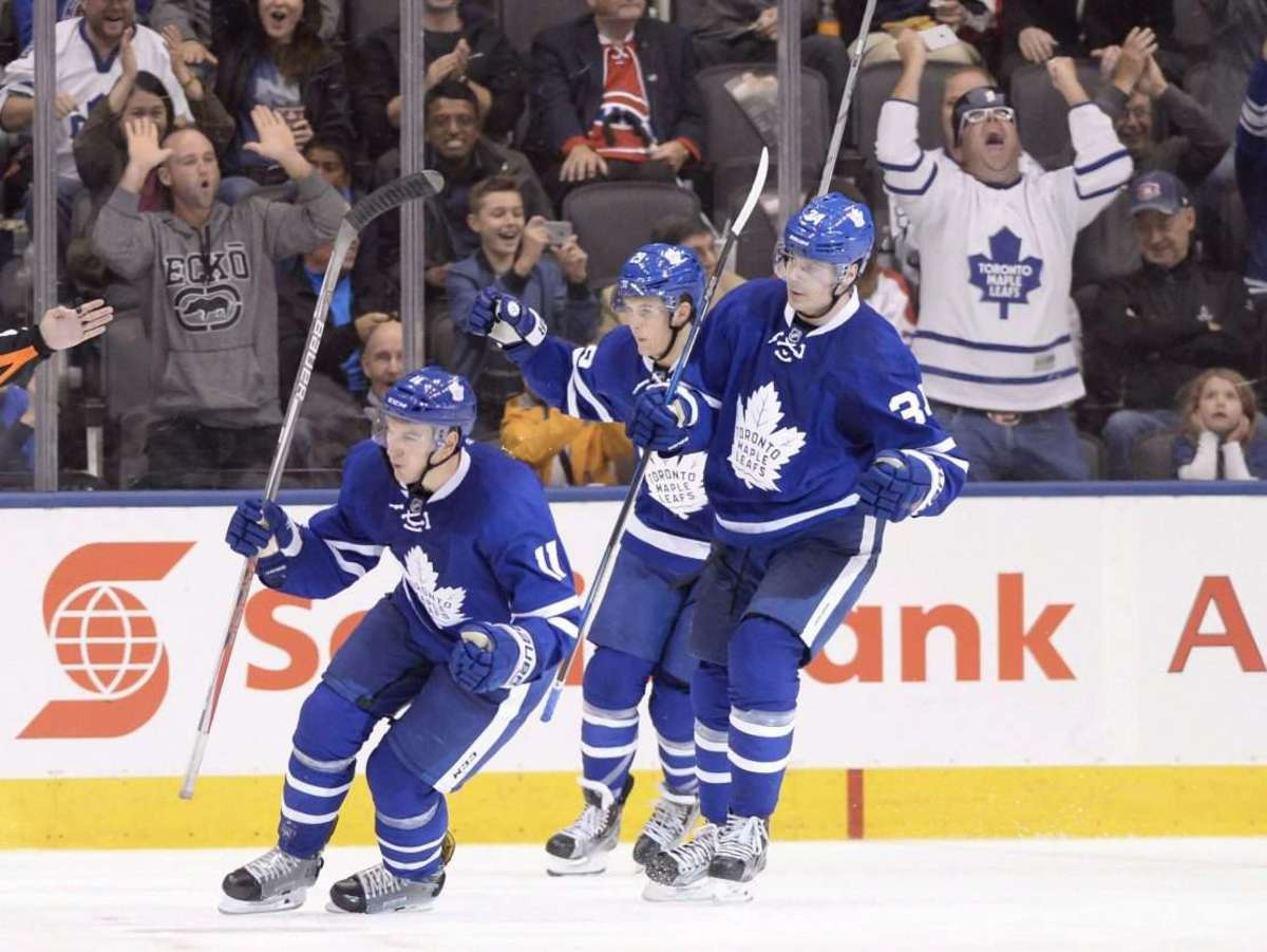 Zach Hyman after scoring goal.