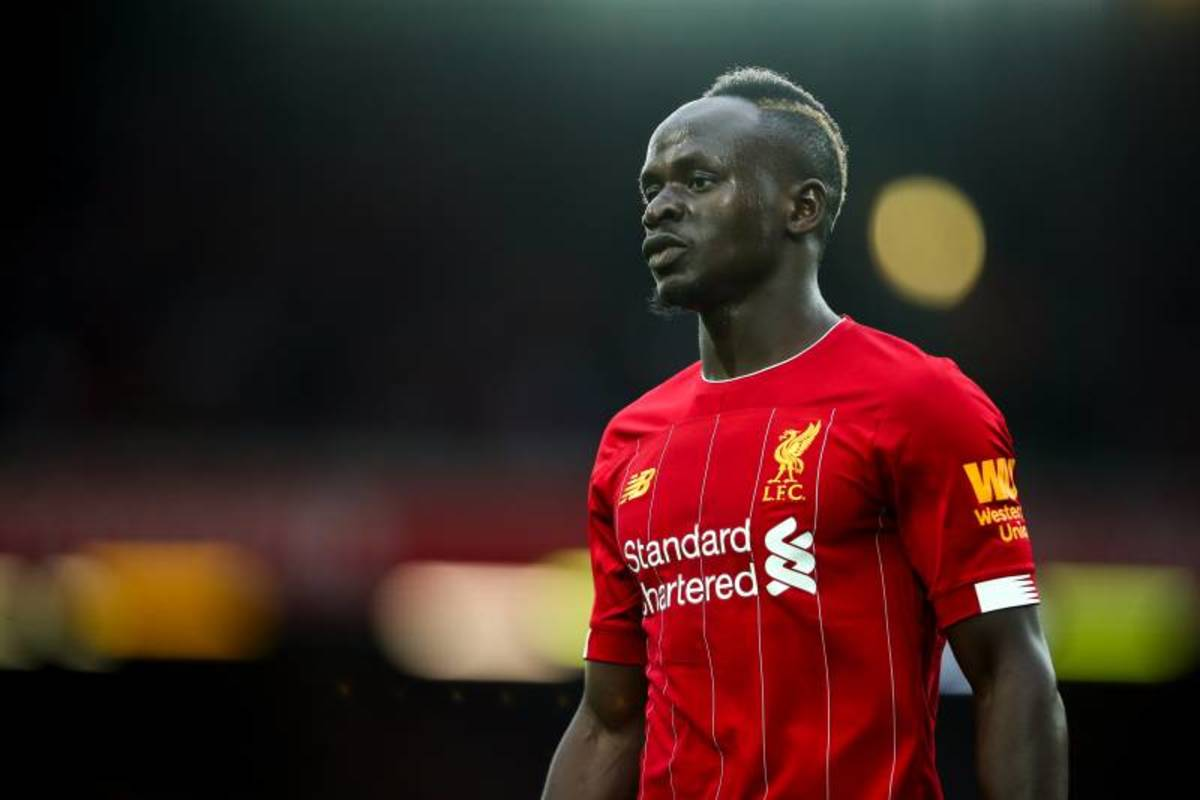Sadio Mane in action during a Liverpool game.