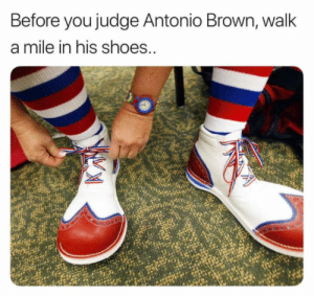 A meme about Brown.