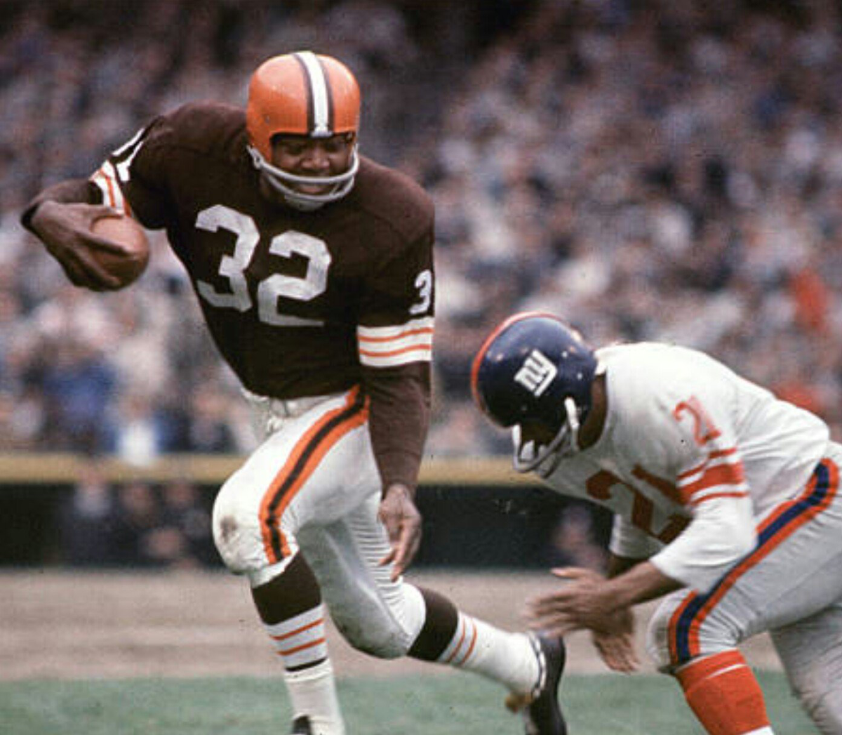 Jim Brown is the most decorated running back of all time, shattering records and piling up awards nearly every year of his career.