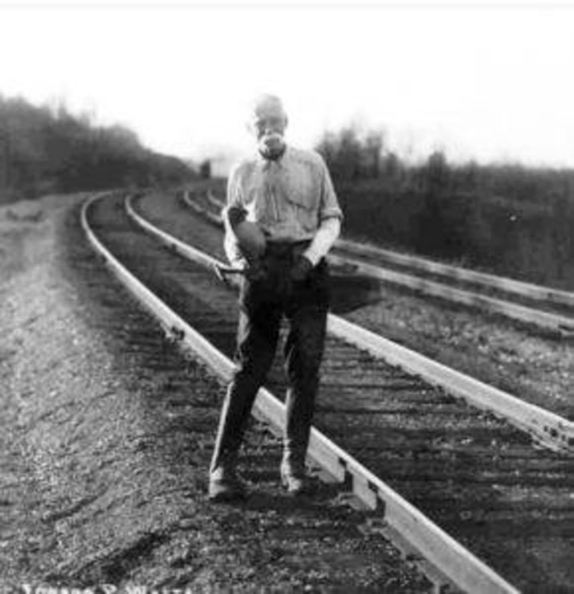 Weston Walking the Rails