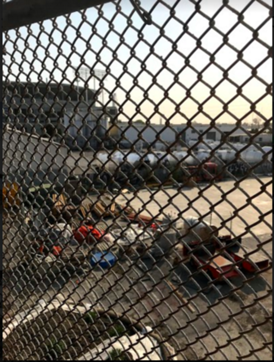 Nothingness at the Oakland Alameda Coliseum (Oakland, California)