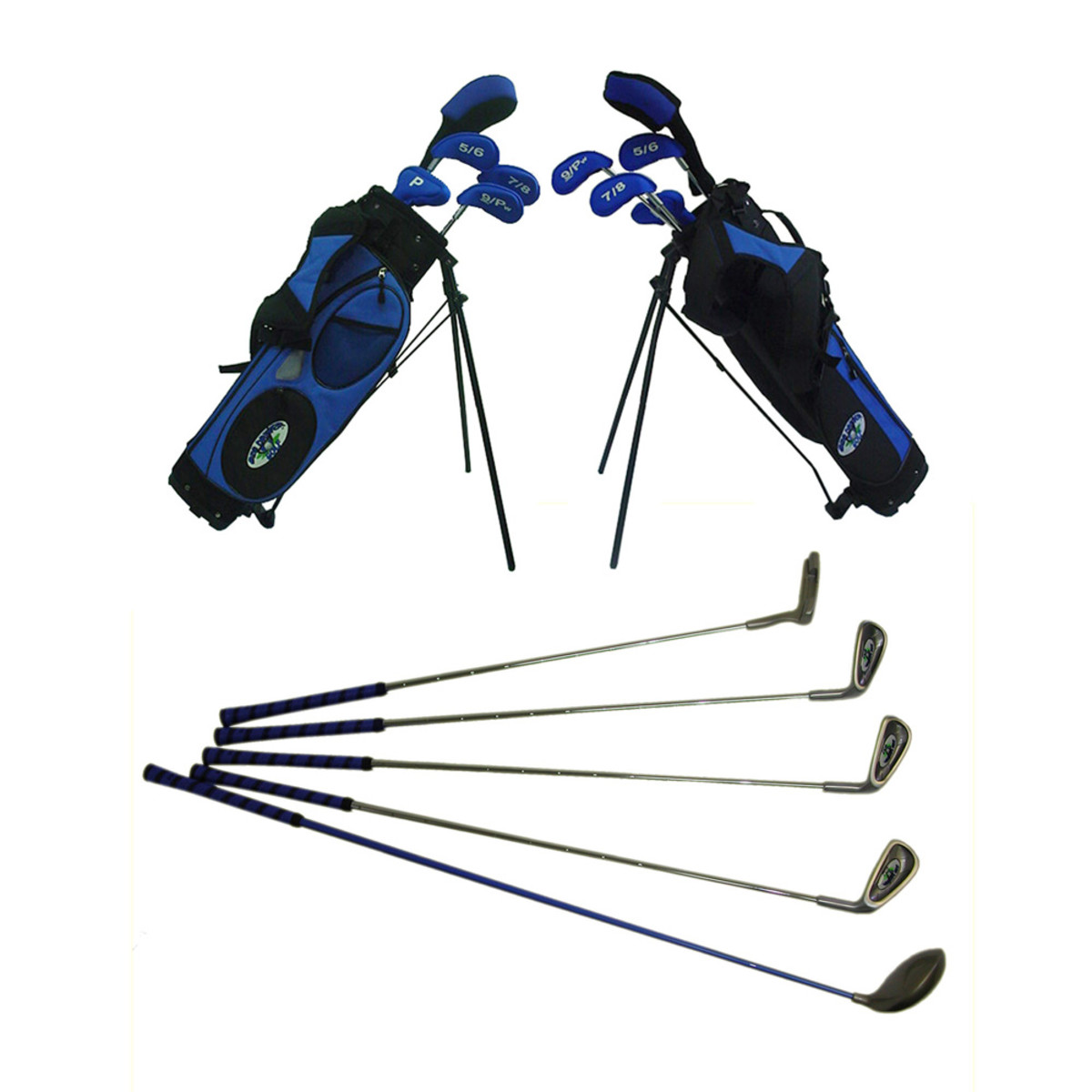 As your child gets more proficient at golf and grows, you will want to purchase a junior golf club set with more clubs. This Dexton Big Driver Junior Golf Set has a putter, 3 Wood, and a 5/6, 7 and 9 iron. The bag and club covers are also included.