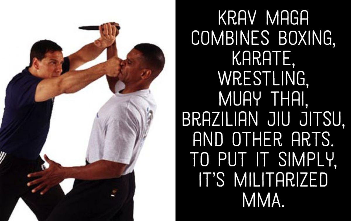 Krav Maga combines many martial arts forms.
