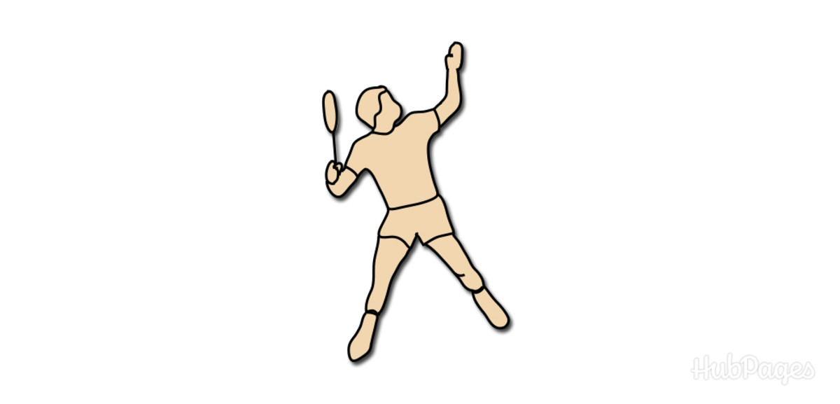 Badminton Smash Figure 1: Begin shifting your weight to your back leg, point your non-racket arm toward the shuttlecock, and hold your racket upward with an uncocked wrist