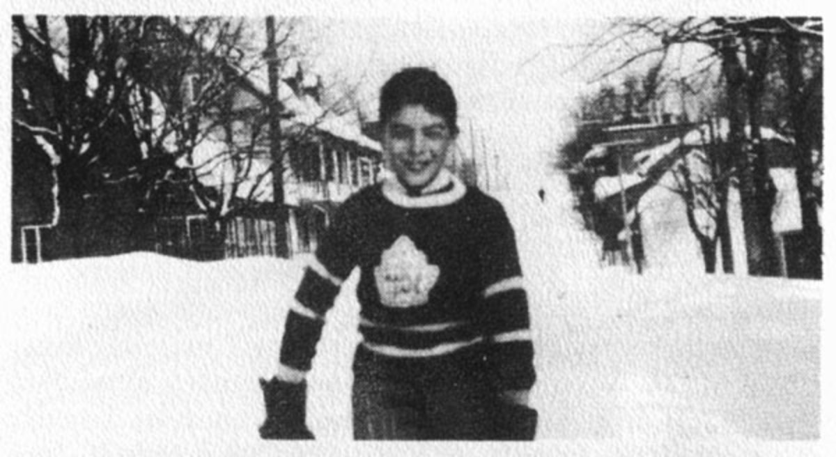 "Roch Carrier (as a child). He wrote ""The Hockey Sweater,"" a story about a boy who outgrew his Montreal Canadiens hockey sweater and when his mother reordered, they were sent a Toronto Maple Leafs sweater by mistake—wonderful story and now a musical."