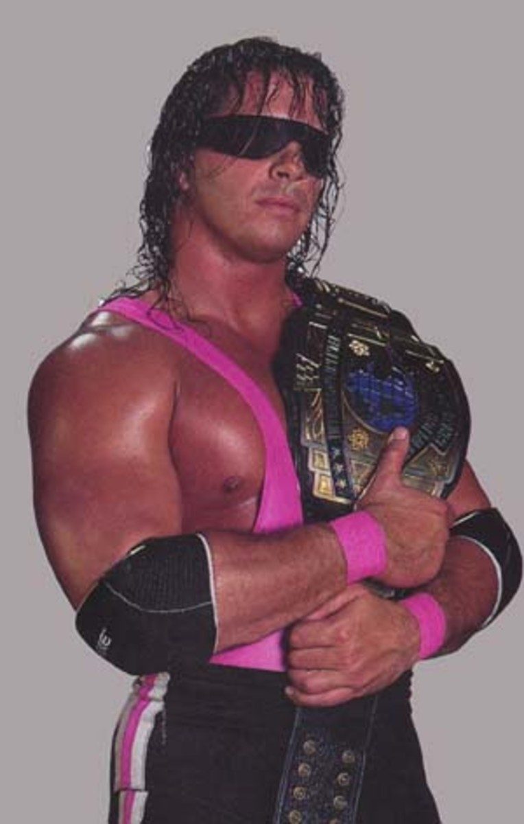 "Bret ""Hitman"" Hart, Intercontinental Champion in 1992"